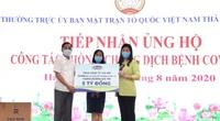 Vinamilk ủng hộ 8 tỷ đồng cho Hà Nội và 3 tỉnh miền Trung chống dịch Covid-19