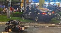 Nữ tài xế lái ô tô Camry tông hàng loạt xe máy ở TP.HCM khai gì?