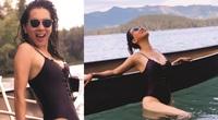 """Tuổi U60, MC Kỳ Duyên vẫn mặc bikini quyến rũ hút mắt dẫn đầu hội mỹ nhân đẹp """"quên tuổi"""""""