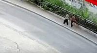 """Clip: Người đi bộ bị hố sâu ''nuốt chửng"""""""