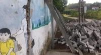Sau phản ánh của Dân Việt, tường Trường Mầm non Vụ Quang đang được xây lại