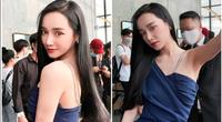 """Nhã Phương quyến rũ """"gây mê"""" trong ảnh hậu trường, fan liền gắn tên một mỹ nhân Trung Quốc đình đám"""