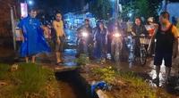 Người phụ nữ rớt xuống cống bị cuốn mất tích trong cơn mưa được tìm thấy