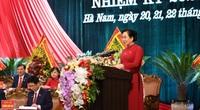 Bà Lê Thị Thủy giữ chức Bí thư Tỉnh ủy Hà Nam nhiệm kỳ 2020 - 2025