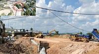 Quảng Ngãi: Sau tối hậu thư, mặt bằng đường dẫn của cầu 2300 tỷ đã thông 1 đầu