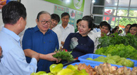 CLIP: Chủ tịch Hội Nông dân Việt Nam ấn tượng với đặc sản tại cửa hàng nông sản an toàn đầu tiên ở Hòa Bình