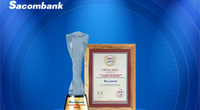 Sacombank vào Top 10 ngân hàng tư nhân uy tín năm 2020