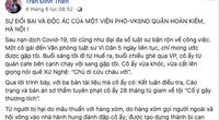Diễn biến mới vụ án liên quan Phó Viện trưởng VKS bị tố nhận tiền của bị can
