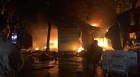 Yên Bái: Cháy chợ lúc rạng sáng, 5 gian hàng bị thiêu rụi