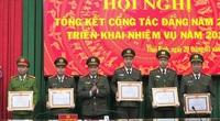 """Trao giấy khen """"Trong sạch, vững mạnh, tiêu biểu"""" cho các tổ chức cơ sở Đảng của CA Thái Bình"""