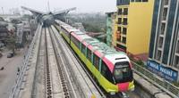 Tàu đường sắt Nhổn - ga Hà Nội lăn bánh trước ngày mở cửa cho nhân dân tham quan đoàn tàu