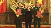 Tổng Bí thư, Chủ tịch nước thăng quân hàm Thượng tướng cho 2 Thứ trưởng Bộ Quốc phòng