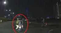 Tạm giữ hình sự thanh niên lái môtô bỏ chạy, kéo lê công an trên đường