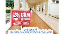 Quy định về địa điểm cấm hút thuốc lá có gì mới?