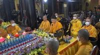 Chùa Phúc Khánh tạo nên quang cảnh có một không hai khi tổ chức lễ cầu an trực tuyến