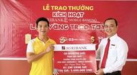 """Khách hàng Phú Quốc trúng giải nhất chương trình """"Kích hoạt Agribank E-Mobile Banking – Lộc vàng trao tay"""""""