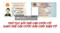 Thủ tục đổi thẻ căn cước cũ sang thẻ căn cước gắn chíp điện tử