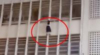 Cứu nữ sinh THCS đu lan can tầng 3 ở TP.HCM