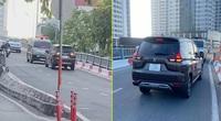 Clip: Nữ tài xế bị xe cứu thương ép đi lùi vì ngang nhiên đi vào đường cấm