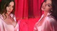 """Bạn gái mẫu Tây của Bùi Tiến Dũng lại khoe vòng 1, NHM """"bỏng mắt"""""""
