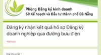 Đà Nẵng: Trả hồ sơ đăng ký doanh nghiệp qua đường bưu điện