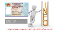 Thẻ căn cước công dân gắn chíp chứa thông tin gì?