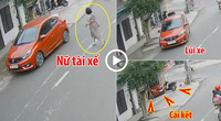"""Clip: Nữ tài xế gây sốc với pha """"lùi chuồng"""" xe vào thẳng cửa nhà dân"""