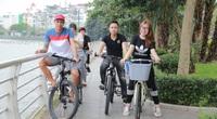 Cho thuê xe đạp dạo hồ Tây, thu tiền triệu mỗi ngày