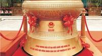 Đúc trống đồng Đông Sơn nặng 300kg chào mừng bầu cử Quốc hội khoá XV