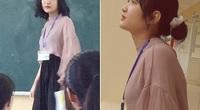 Bị học sinh chụp lén, cô giáo Thanh Hoá nổi tiếng bất thình lình vì quá xinh