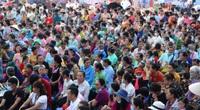 Lễ hội Then Kin Pang độc đáo của người Thái trắng Tây Bắc, hàng trăm thanh niên ra suối té nước ầm ầm