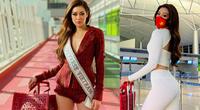 """Nhan sắc quyến rũ """"đốn tim"""" của Hoa hậu Khánh Vân trên đường sang Mỹ thi Miss Universe"""
