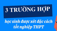 3 trường hợp được xét đặc cách tốt nghiệp THPT