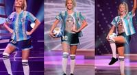 Hoa hậu Argentina tri ân Maradona đầy ấn tượng tại Miss Universe