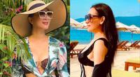 """Sao Việt 6/5: MC Kỳ Duyên thấy """"động trời"""" khi Phi Nhung hiếm hoi mặc bikini quyến rũ hút mắt"""