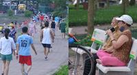 """Bất chấp lệnh cấm phòng dịch Covid-19, người Hà Nội vẫn đổ ra công viên """"trổ tài"""" hát karaoke, tập thể dục"""