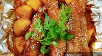 Sườn nướng khoai tây thơm phức với nồi chiên không dầu