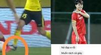 Văn Toàn tung thêm bằng chứng bị cầu thủ Malaysia phạm lỗi tinh vi