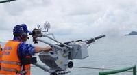 Ảnh: Vùng Cảnh sát biển 1 tổ chức huấn luyện trên biển