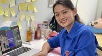 """Chuyền hai xinh đẹp Nguyễn Thu Hoài 1m75: Nghỉ dịch, thành """"cô giáo"""" dạy tiếng Anh"""