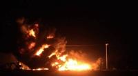 Bãi tập kết vật tư bất ngờ bốc cháy dữ dội, thiệt hại 7 tỷ đồng