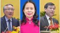 Bà Võ Thị Ánh Xuân, ông Nguyễn Hòa Bình và ông Lê Minh Trí tái cử chức vụ