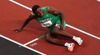 """Olympic Tokyo 2020: VĐV Nigeria """"rơi"""" HCĐ chạy 100m nam vì... """"chuột rút"""""""