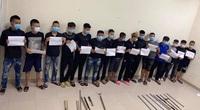 """Hà Nam: Đang dịch Covid-19, hơn 30 thanh niên vẫn dùng dao, kiếm, phóng lợn """"dàn trận"""" đánh nhau"""