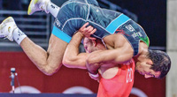 Clip: Đô vật Iran hạ đối thủ bằng chiêu độc tại Olympic Tokyo 2020