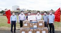 """Phú Yên nhận 5.000 bộ """"test"""" kháng nguyên Covid-19 do một nhà xe trao tặng"""