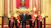 Chủ tịch nước trao quyết định bổ nhiệm 4 Thẩm phán Tòa án nhân dân tối cao