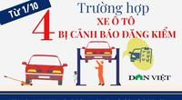 4 trường hợp xe ô tô bị cảnh báo đăng kiểm kể từ ngày 1/10