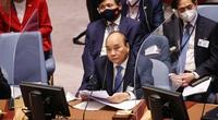 Chủ tịch nước đề xuất 3 nhóm giải pháp thích ứng biến đổi khí hậu cho Hội đồng bảo an và Liên hợp quốc