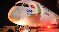 """Thông điệp đặc biệt """"Quy Nhơn city"""" trên chuyến bay thẳng đầu tiên của Bamboo Airways đến Hoa Kỳ"""